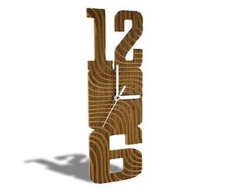 Modern Wooden Wave Clock 3D