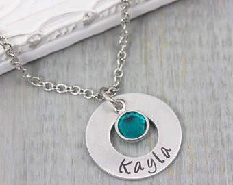 Personalized Necklace - Hand Stamped Jewelry - Personalized Jewelry Gift - Personalized Mom Jewelry - Mothers Necklace - Name Necklace Gift