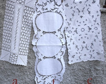 Lace table runners Rustic table runner Lace table overlay White lace runner Lace edge runner Dinner table runner Oval table runner