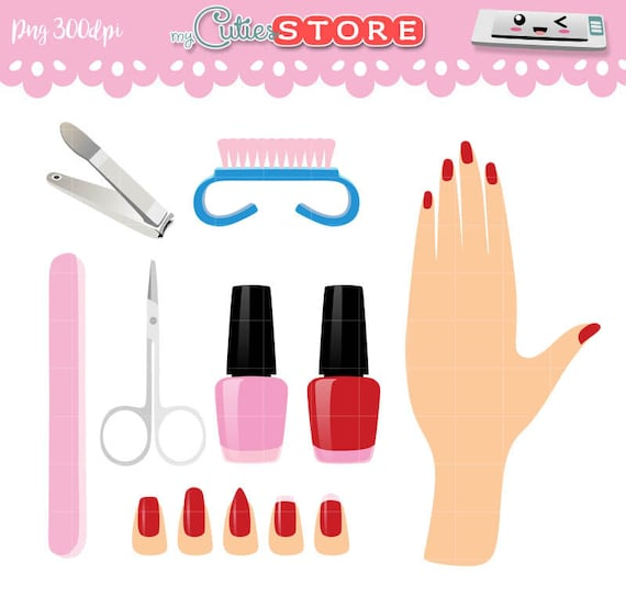 Collection Manicure Clipart and Paint nails polish Graphics