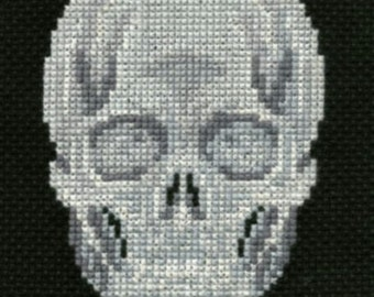Skull counted cross-stitch chart