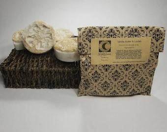 Vanilla Butter & Loofah Natural Handmade Soap 4 oz.