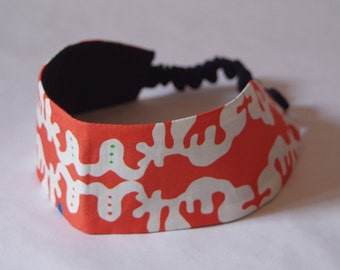 SALE !! Headband, orange, white