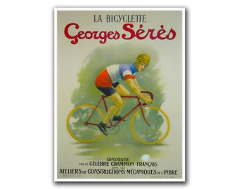 Vintage Bike Poster Art Bicycling Decor Cycling Road Bike Print (H56)