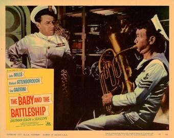 The Baby And The Battleship - 1957 - Original US lobby card  # 2