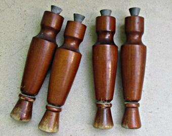 vintage wooden furniture legs , mid century modern furniture legs, wood furniture legs set.