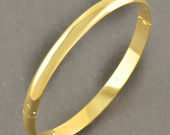 Classic Gold Filled Bangle Bracelet Hinged 6MM Free Shipping
