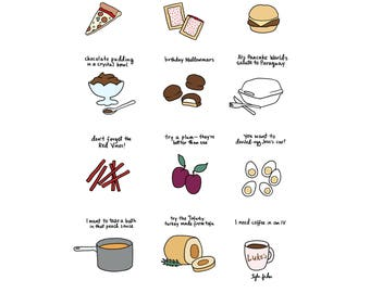 Foods of Gilmore Girls - Digital Download
