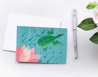 Folded Tadpole Notecard 6pack