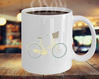Bike With Basket Mug