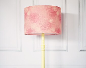 Pink lamp shade etsy pink lamp shade pink lighting pink table lamp pink floral bedroom light aloadofball Images