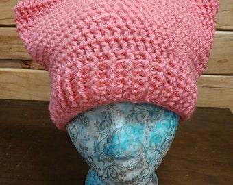 Kitty hat, Cat hat, Cat ear hat, Hat with ears, cat lover gift, Crochet cat hat, Cat beanie, Kitty Beanie, Crochet hat, Crochet beanie