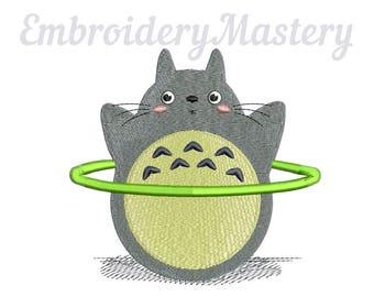 TOTORO anime machine embroidery design. Ghibli. My neighbour Totoro. Anime embroidery. Kids design. 3 sizes. Instant download