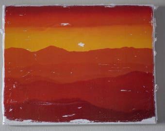 Sunrise Over the Blue Ridge Mountains on Canvas