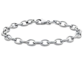 Silver Plated Charm Bracelet Chain basic chain add charms