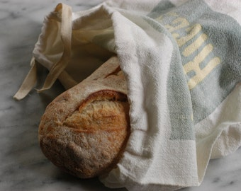 Vintage Sugar Cotton Sack, Bread Bag, Produce Bag