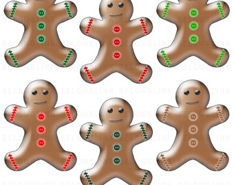 Gingerbread Man Clip Art Digital Scrapbooking Commercial Use - Instant Download  - DP276