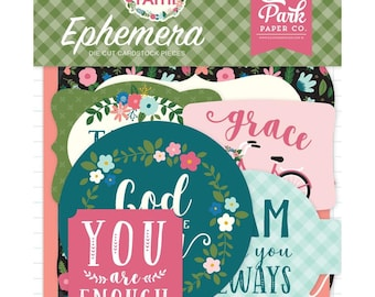 Have Faith - Ephemera Cardstock Die-Cuts 33/Pkg - by Echo Park Paper Co. - Perfect for Bible Journaling!
