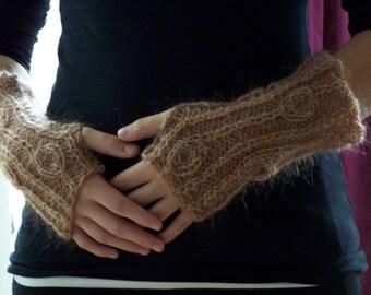 Knitting Pattern  - Beaute Fingerless Gloves Instant Download pdf
