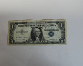 silver certificate 1957 three consecutive serial numbers