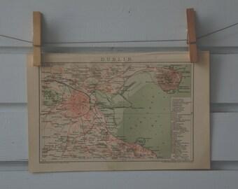 1894 Vintage Dublin Map