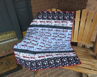 Homemade - Speedster  Quilt - Made With Hard To Find Fabrics!