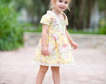 Coffee Shop Lace Dress, PDF Sewing Patterns, sewing pattern, flower girl dress, vintage twirl dress,  baby sewing pattern, girls dress pdf