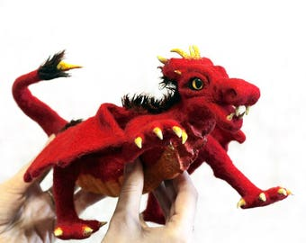 Red dragon of wool.