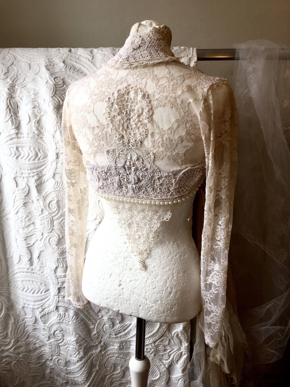 Wedding Bolero Beaded Antique Inspired Lace