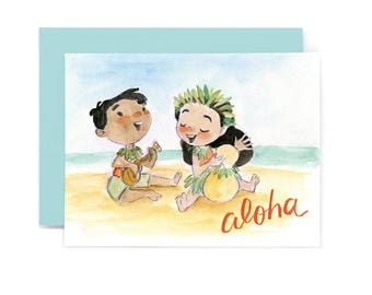 Aloha Music Greeting Card