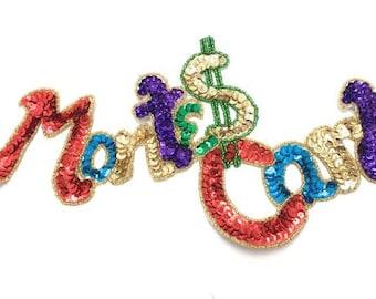 "Monte Carlo Applique, Sequin Beaded, 11"" x 6""  -B213-0151-0212"