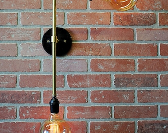 Designer Wall Sconce- Double Wall Light - Modern Wall Sconce - Ceiling Light, Industrial Wall Sconce