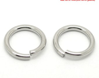 AX7 - Set of 20 15mm steel split rings very strong stainless