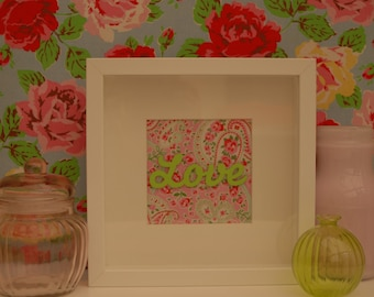 Love Box Frame - Pink and Green