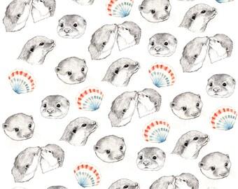 Otters Fabric Print - Fat Quarter