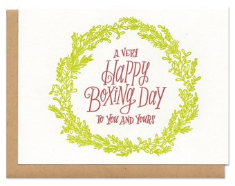 A Very Happy Boxing Day To You And Yours Greeting Card