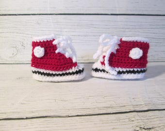 Baby Booties, High Top Baby Shoes, Infant Slippers, Clothing Gift, Baby Gift, Baby Shower Gift, Sports Gift for Baby