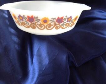 JAJ Pyrex Briarwood Small 16cm Casserole Dish, Rare Discontinued Pyrex, English Briarwood Pyrex, Pyrex Casserole Dish, Pyrex Serving Dish,