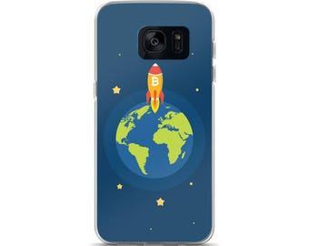 Samsung Galaxy Phone Case Bitcoin Pattern S7 S7 edge S8 S8+
