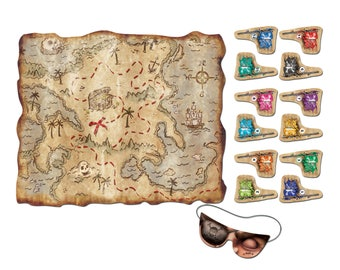 Treasure Map Pirate Party Game/ Pirate Party Game/ Pirate Birthday Party Game