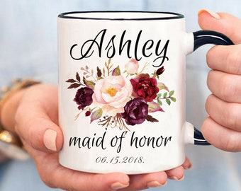 Maid of Honor Mug, Gift for Maid Of Honor, Maid Of Honor Proposal, Will You Be My Maid of Honor, Bridesmaid Party Favor, Best Friend Mug