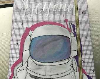 To Infinity and Beyond Astronaut Hardcover Notebook