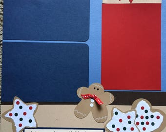 Christmas Cookies -  12 x 12 Premade Scrapbook Pages