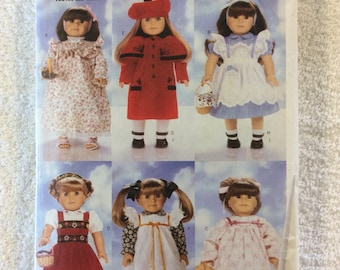 "Butterick Pattern for clothing for 18"" Dolls"