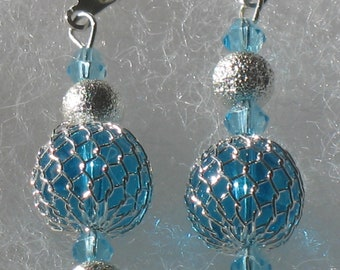 Premiere Collection - Netted glass bead earrings