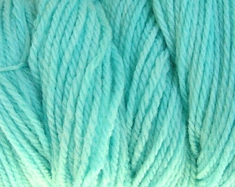 Ocean Blue Worsted Weight Hand Dyed Merino Wool Yarn