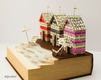 A Day by the Sea - Book Sculpture - Altered Book