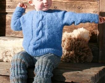 Alpaca and Wool Sweater with yarn braid