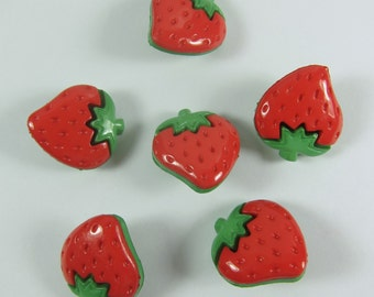 Small Strawberry Novelty Buttons