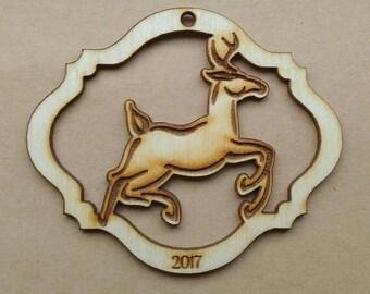 Reindeer - Wooden Ornament